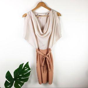 Forever 21   cold shoulder color block dress
